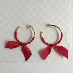 J.Crew Red Bow Earrings